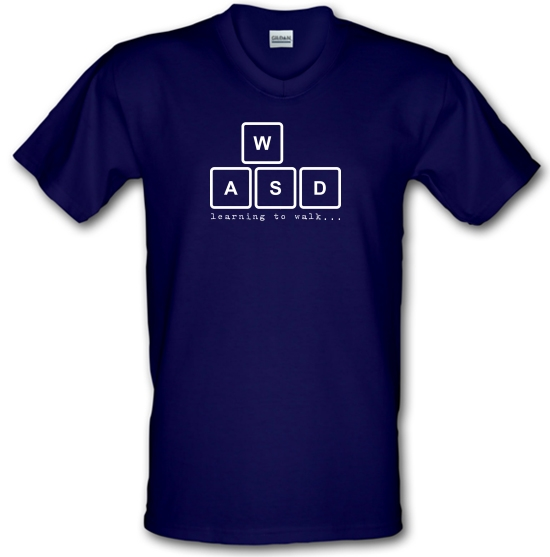 WASD Learning To Walk V-Neck T-Shirts