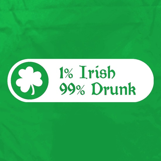 1% Irish 99% Drunk Apron