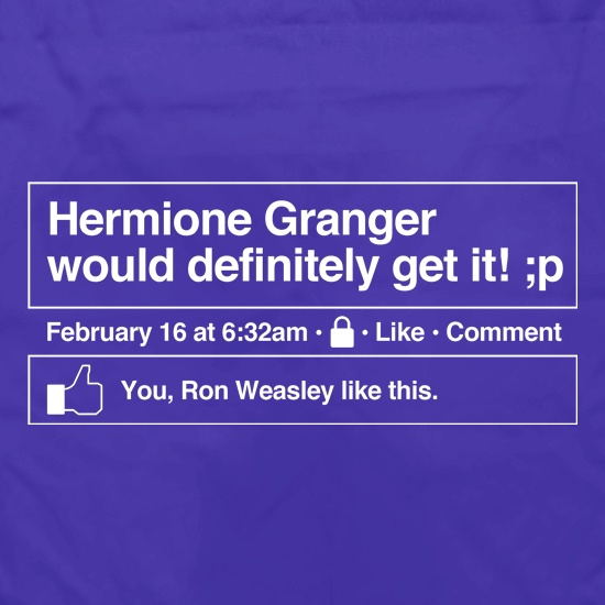 Hermione Granger would definitely get it! Apron