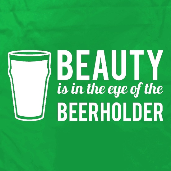 Beauty is in the eye of the Beerholder Apron