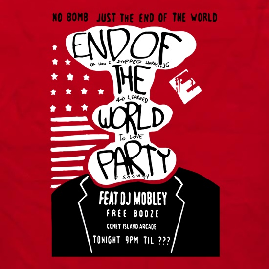 End Of The World Party Apron