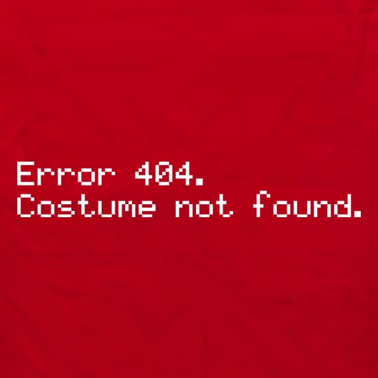 Error 404 Costume Not Found Apron