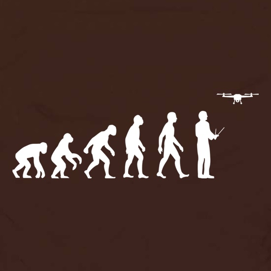 Evolution Of Man Droning Apron
