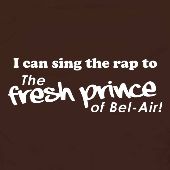 I Can Sing The Rap To The Fresh Prince Of Bel-Air Apron