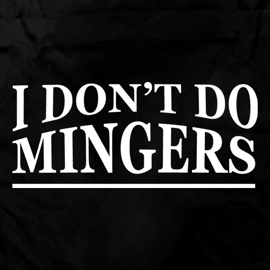 I Don't Do Mingers Apron