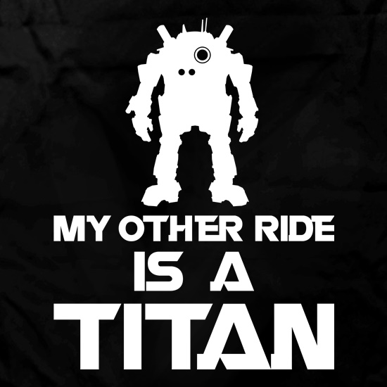 My Other Ride Is A Titan Apron