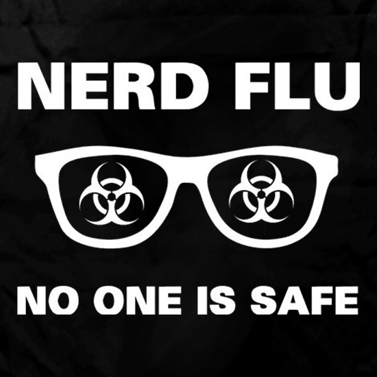 Nerd Flu No One Is Safe Apron