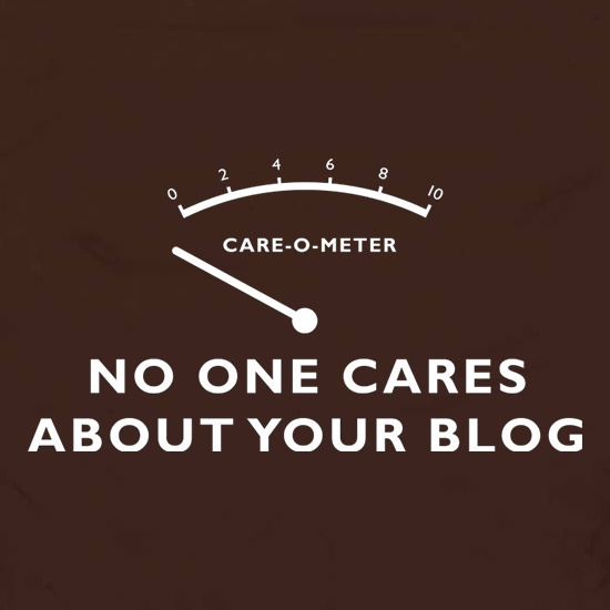 No One Cares About Your Blog Apron