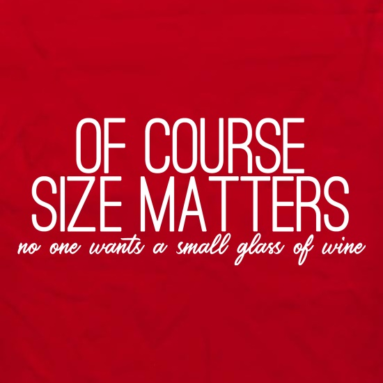 Of Course Size Matters Apron