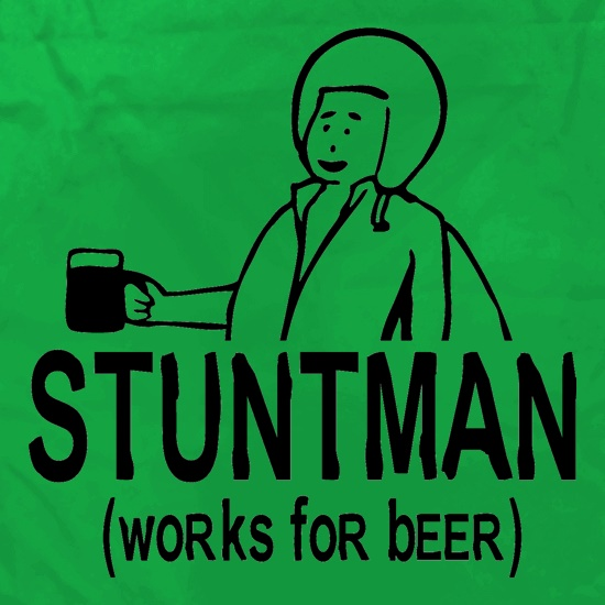 Stuntman Works For Beer Apron
