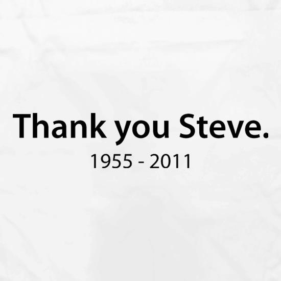 Thank You Steve Apron