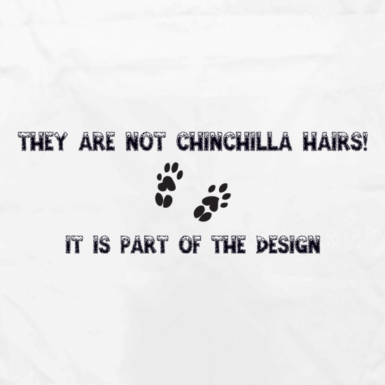 They are NOT Chinchilla Hairs. it is part of the design Apron
