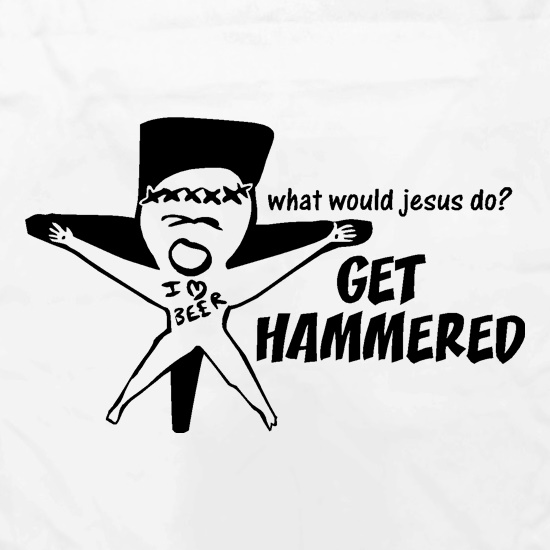 What would jesus do? Get hammered Apron