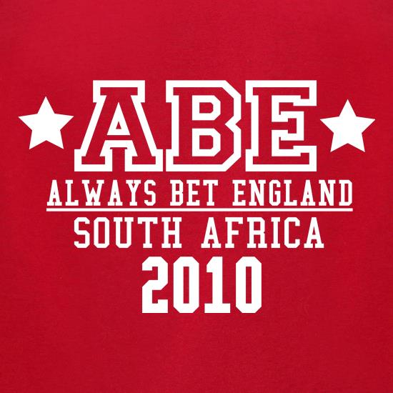 ABE Always Bet England t-shirts for ladies
