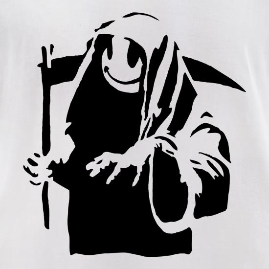 Banksy Grin Reaper t-shirts for ladies