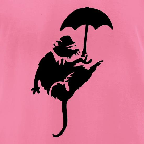 Banksy Flying Rat t-shirts for ladies