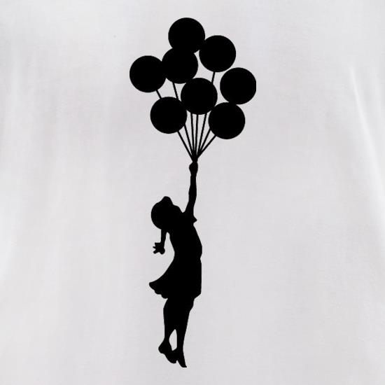 Banksy Girl t-shirts for ladies