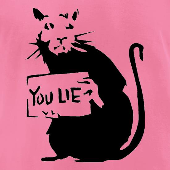 Banksy Rat t-shirts for ladies