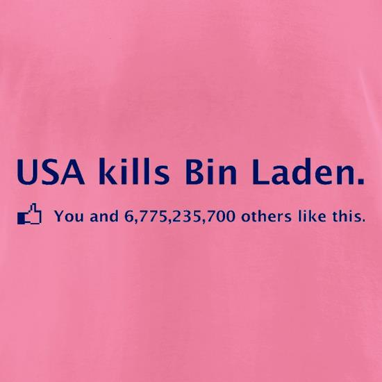 Bin Laden Facebook t-shirts for ladies