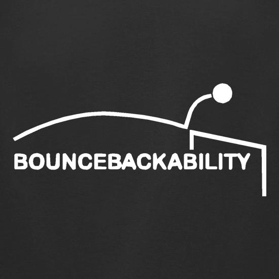 Bouncebackability t-shirts for ladies