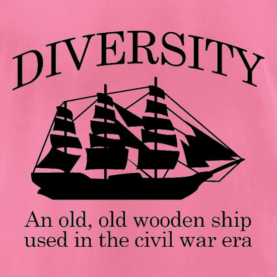 Diversity - An Old Old Wooden Ship Used In The Civil War Era t-shirts for ladies