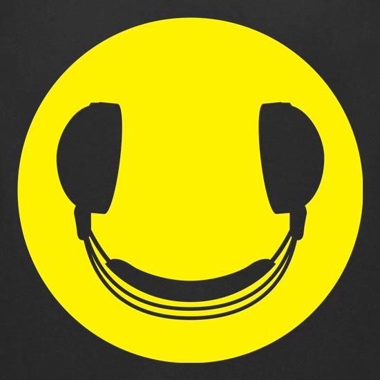 DJ Headphones Smiley Face t-shirts for ladies