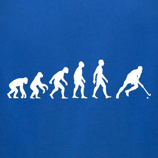 Evolution Of Man Field Hockey t-shirts for ladies