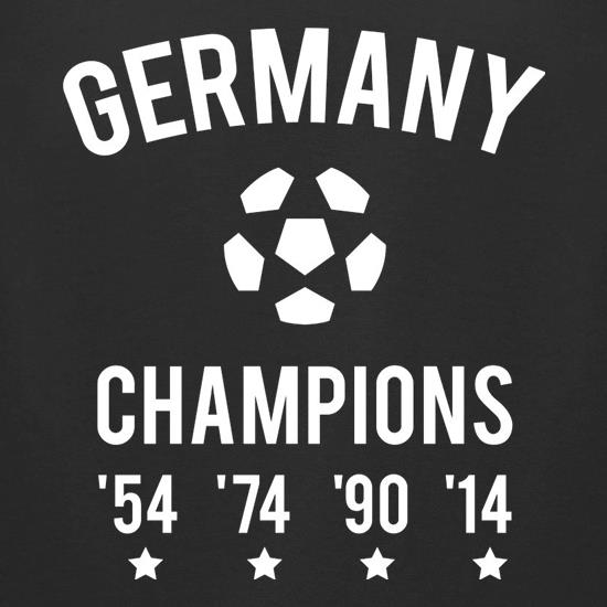 Germany Champions t-shirts for ladies