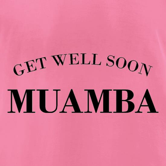 Get Well Soon Muamba t-shirts for ladies
