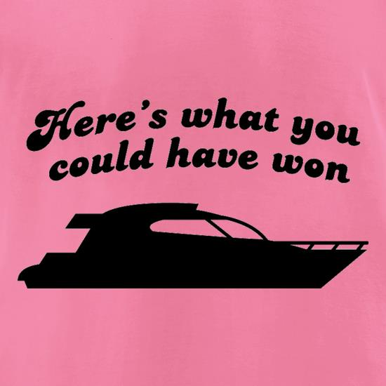 Here's What You Could Have Won t-shirts for ladies
