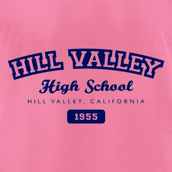 Hill Valley High School t-shirts for ladies