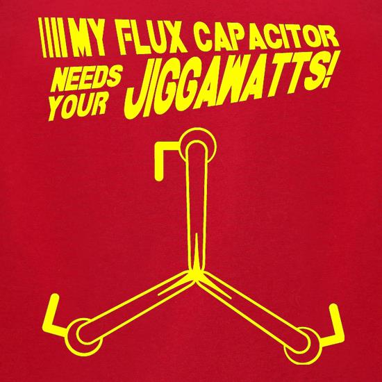 My Flux Capacitor Needs Your Jiggawatts t-shirts for ladies