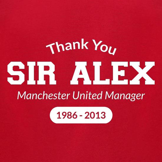 Thank You Sir Alex t-shirts for ladies