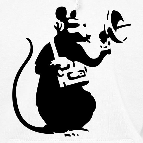Banksy Listening Rat Hoodies