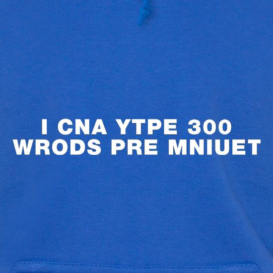 I Can Type 300 Words Per Minute Hoodies
