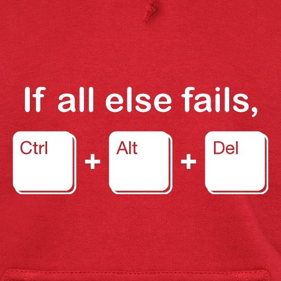 If All Else Fails, Ctrl Alt Delete Hoodies