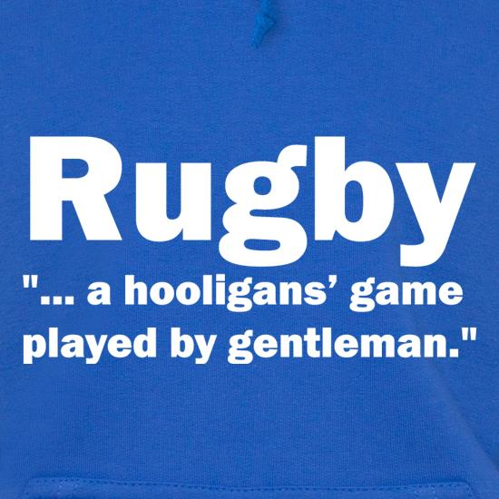 Rugby A Hooligans Game Hoodies