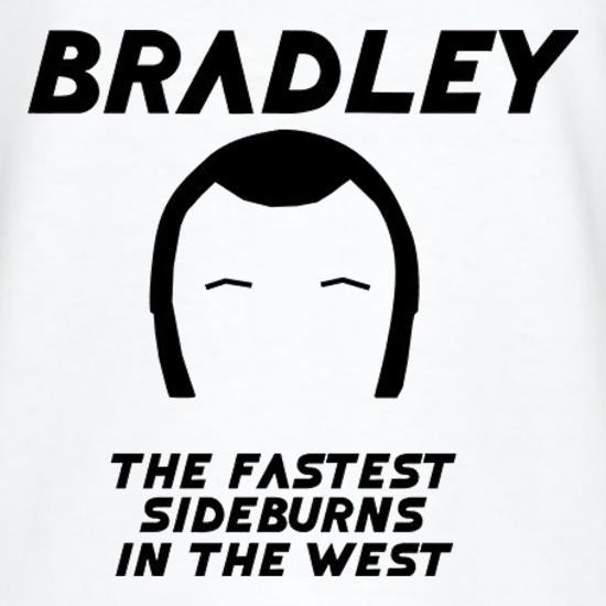 Bradley The Fastest Sideburns In The West T-Shirts for Kids