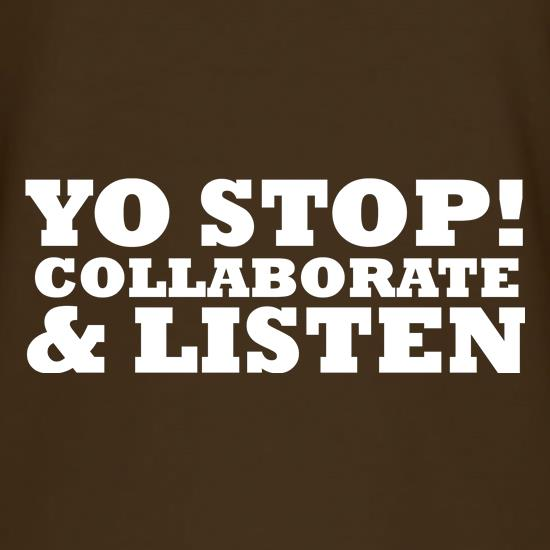 Yo Stop! Collaborate and listen T-Shirts for Kids
