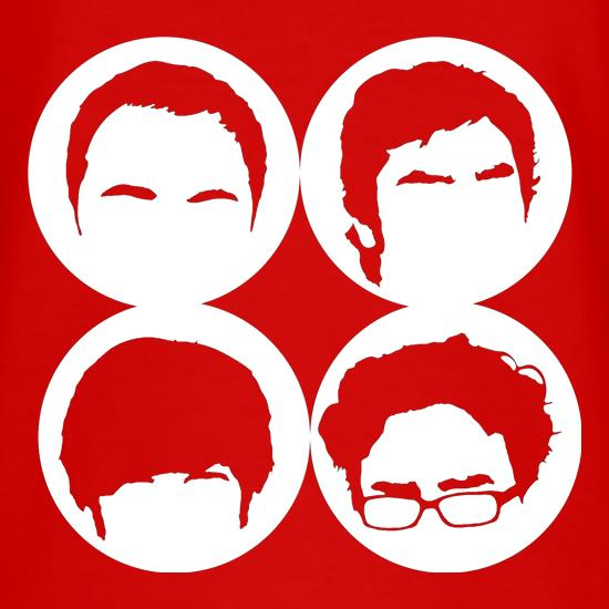 Big Bang Theory Silhouettes t-shirts