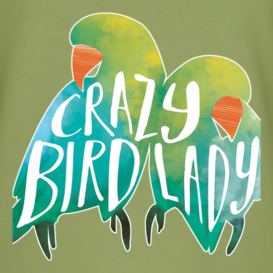Crazy Bird Lady t-shirts