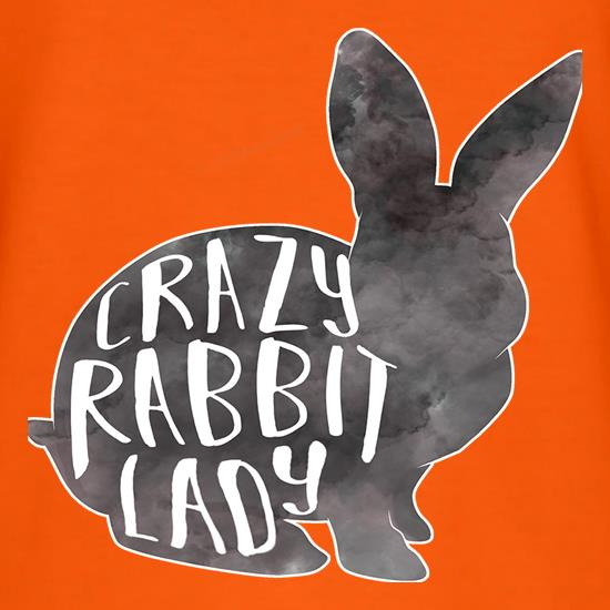 Crazy Rabbit Lady t-shirts