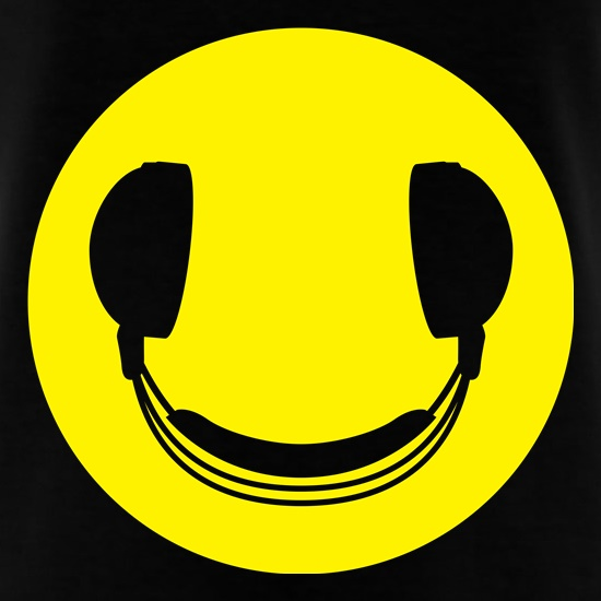 DJ Headphones Smiley Face t-shirts