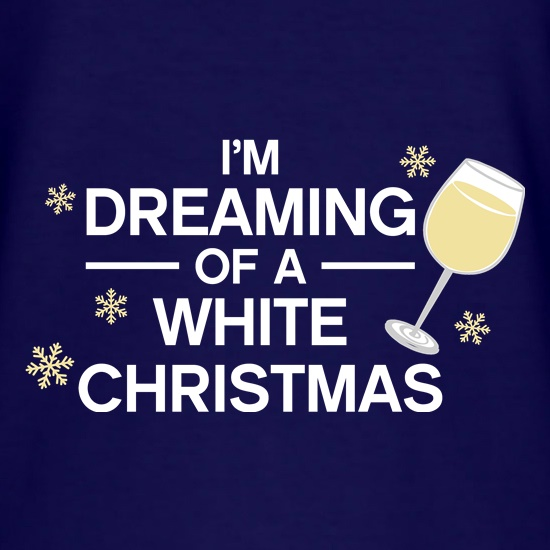 Dreaming Of A White Christmas t-shirts