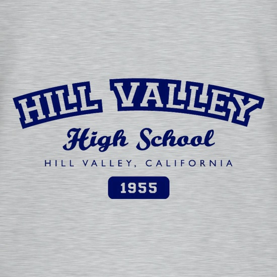 Hill Valley High School t-shirts