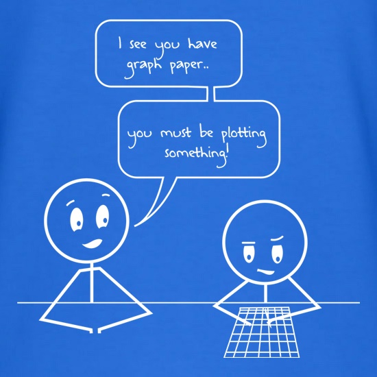 I See You Have Graph Paper t-shirts