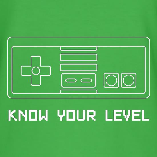 Know Your Level t-shirts