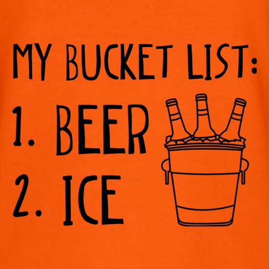 My Bucket List t-shirts