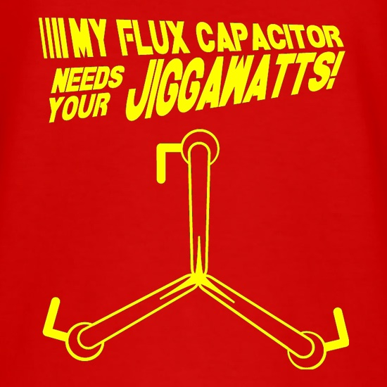 My Flux Capacitor Needs Your Jiggawatts t-shirts
