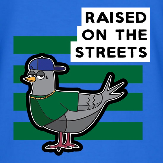 Raised On The Streets t-shirts
